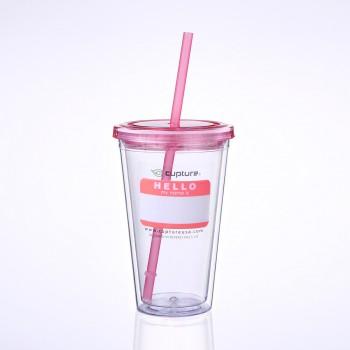 Classic Tumbler 16 oz, Rose Pink