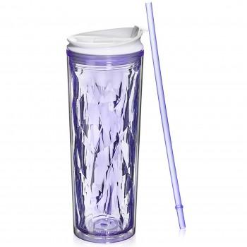 Crystal Tumbler 22 oz - Purple Amethyst
