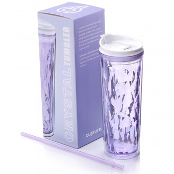 Crystal Tumbler 22 oz - Purple Amethyst