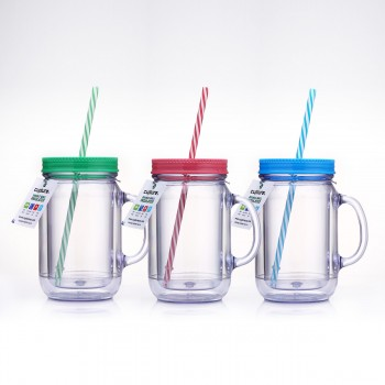 Mason Tumbler 20 oz, 3 Pack (Green, Red, Blue)