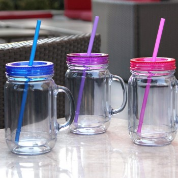 Mason Tumbler 20 oz, 3 Pack (Blue, Pink, Purple)