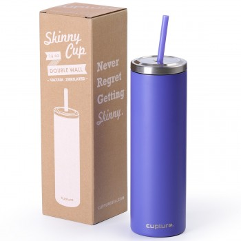Stainless Steel Skinny Cup - 16 oz, Ultra Violet
