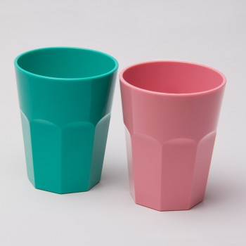 The Small Cup - Plastic Tumblers, 12 oz, 6-Pack (Assorted Colors)