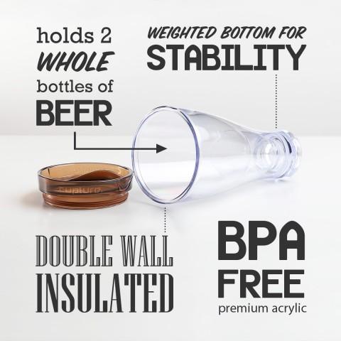Beer Mug 28 oz, Brown