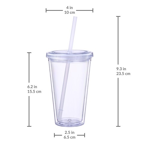 Classic Clear Tumbler 16 oz, 12 Pack