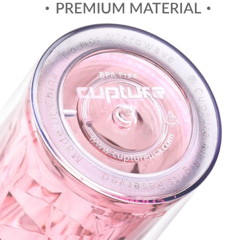 Crystal Tumbler 22 oz - Pink Rose