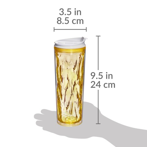 Crystal Tumbler 22 oz - Yellow Topaz