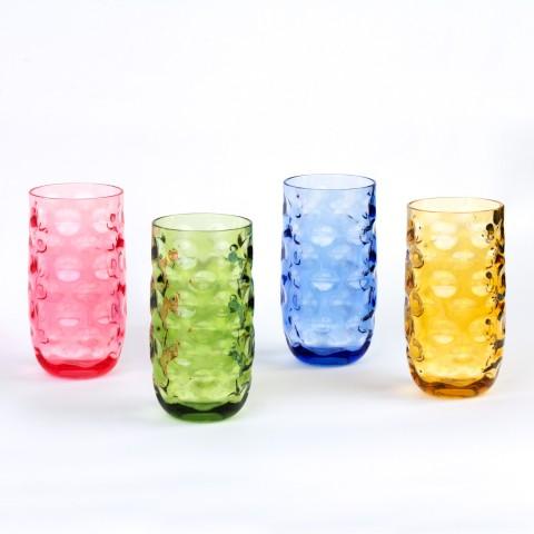 Impression Plastic Tumblers, 20 oz, 4 Pack (Assorted Colors)