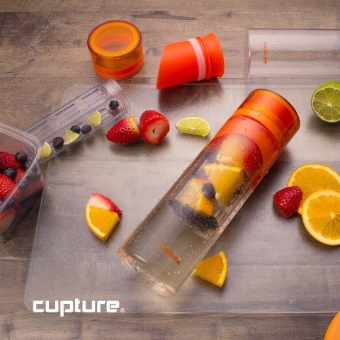 Fruit Infuser Bottle, 2 Pack - Orange
