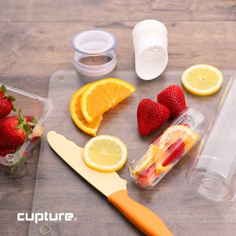 Fruit Infuser Water Bottle, 1 Pack - White color