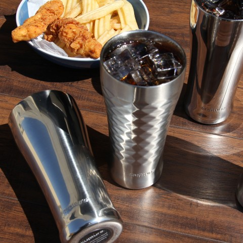 Stainless Steel Pint Cup 16 oz, Quilted