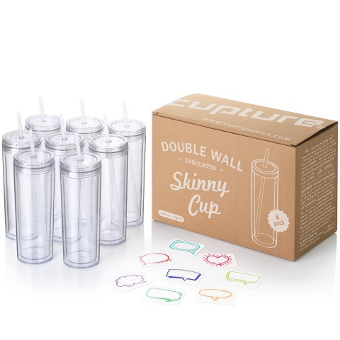 Acrylic Skinny 8 pack - Clear