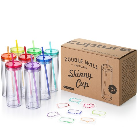 Acrylic Skinny 8 pack - Assorted Colors