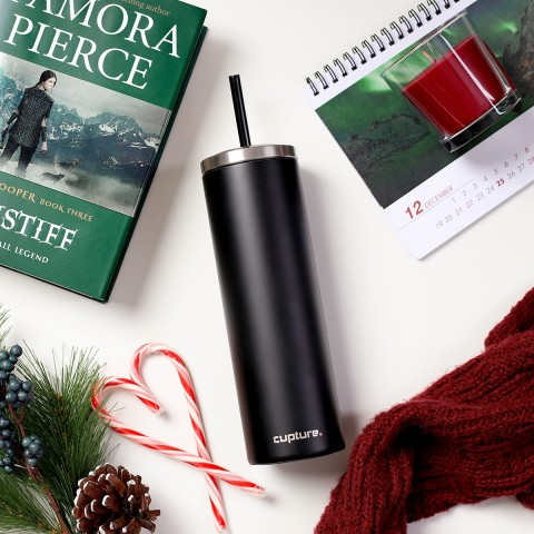 Stainless Steel Skinny Cup - 16 oz, Winter White