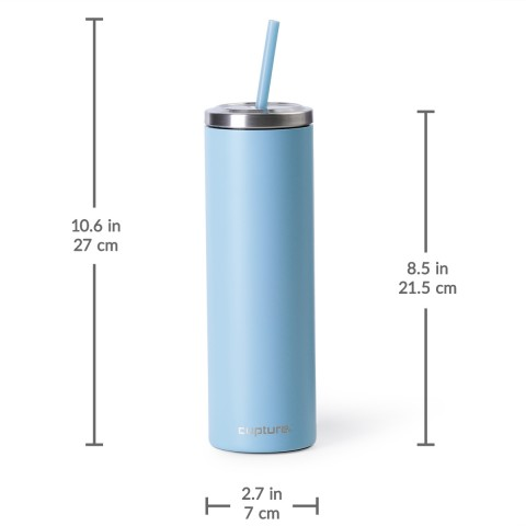 Cupture Stainless Steel Skinny Insulated Tumbler Cup With