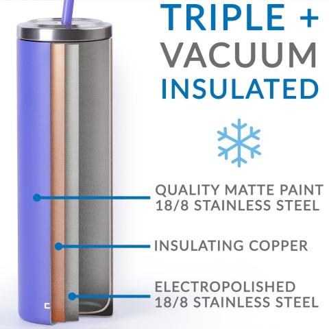 Stainless Steel Skinny Cup - 16 oz, Walnut Burl