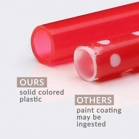Solid Color Straws 12 Pack