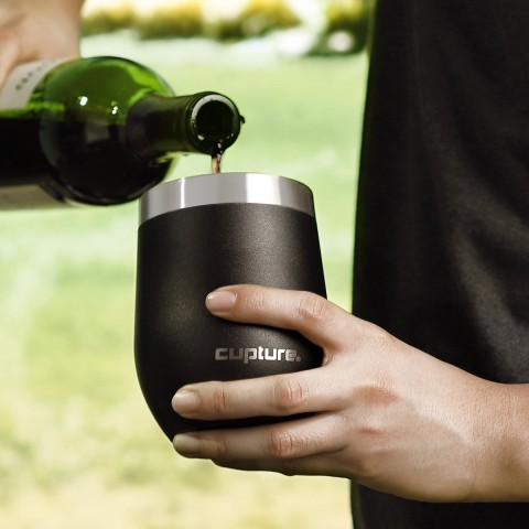 Stainless Steel Stemless Wine Tumbler - 12 oz, Ultra Violet